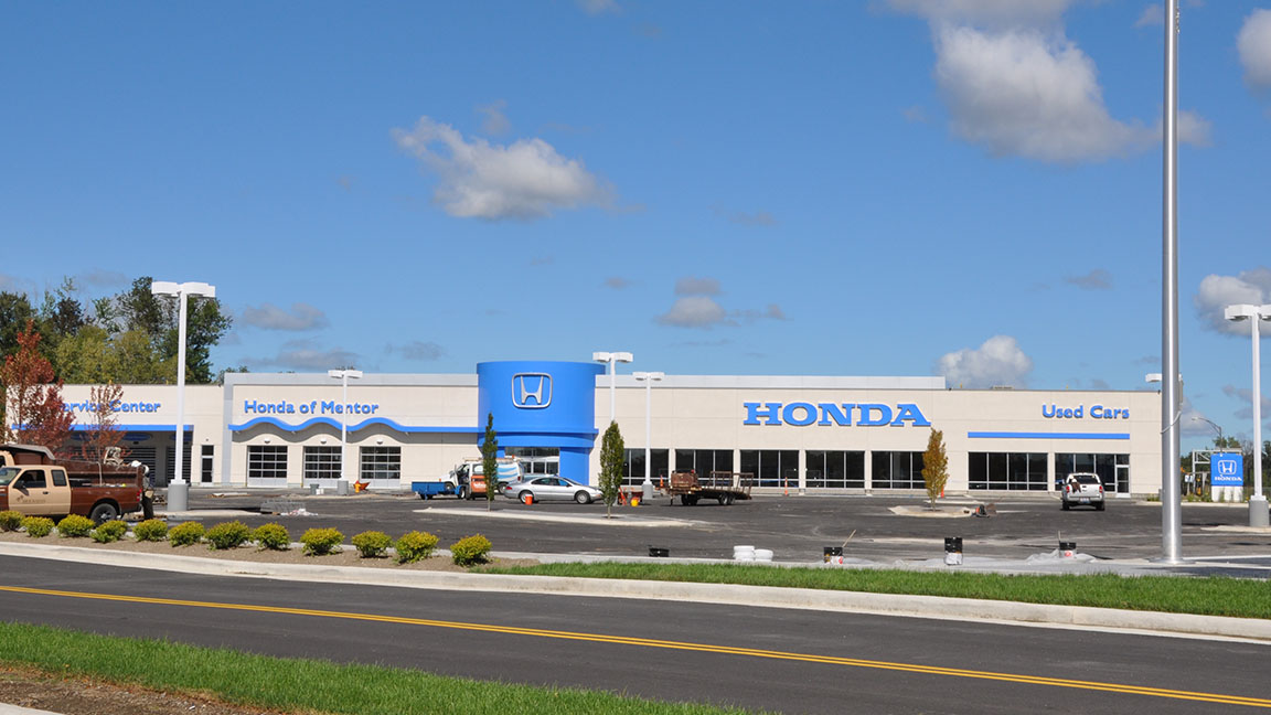 Honda of mentor cleveland construction for Honda dealer cleveland