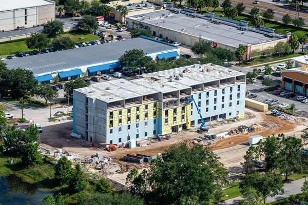 Milestone Reached at Home2Suites Project in Orlando