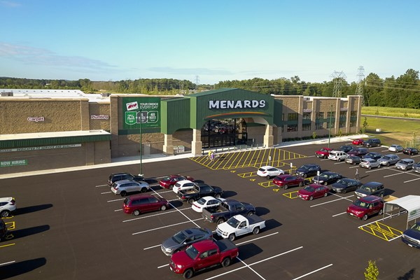 Cleveland Construction Completes New Menards Retail Center