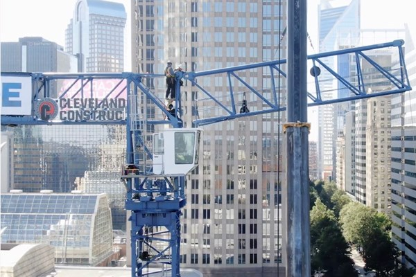 Cleveland Construction Installs Tower Crane in Charlotte