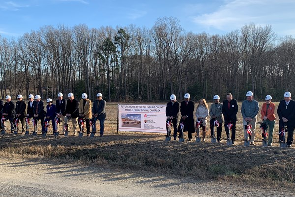 Cleveland Construction Breaks Ground On New Mecklenburg Middle/High School Complex In Virginia