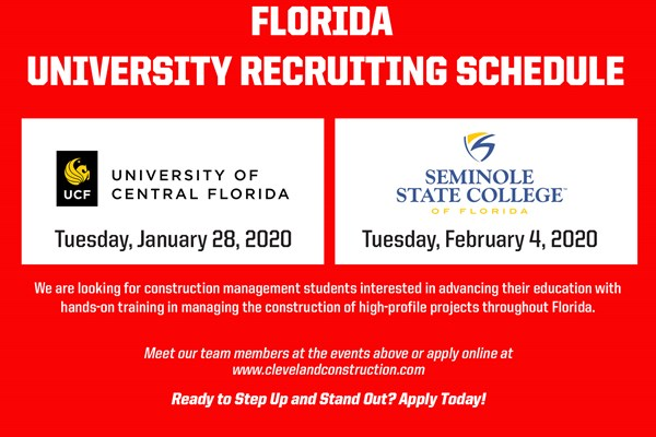 University Recruiting Events in Florida