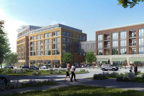 Top of the Hill Mixed-Use Development in Cleveland Heights, Ohio Begins Construction